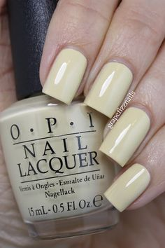 opi One Chic Chick is a sweet soft yellow that has a dusty feel to it.