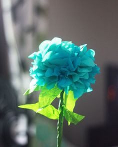 Friday Flowers: Paper Hydrangeas DIY ... http://www.auntpeaches.com/2012/05/friday-flowers-paper-hydrangeas.html#