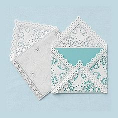 Fun lace envelopes! #lacestationary #weddings #summer