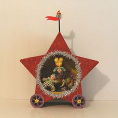 Circus Wagon/Performing Clowns/ by marileejanedesigns on Etsy, $38.00