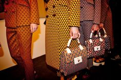 Muiccia Prada, the pioneer of pattern play, does it again with the Prada A/W '12 collection.