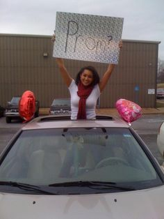 my prom proposal he came out from work