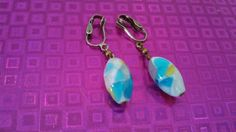 Hey, I found this really awesome Etsy listing at https://www.etsy.com/listing/231111225/pretty-art-glass-clip-on-earrings-mm64