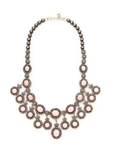 Pink Opal & Diamond Geometric Multi-Drop Necklace by Amrapali