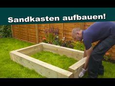 Sandkasten selbst aufbauen, basteln - Bastelideen aus Holz zum selber ba...