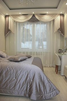 Curtain Idea for Master Bedroom Best Of Master Bedroom Curtain Designs Bedroom Curtains With Blinds, Living Room Decor Curtains, Luxury Curtains, Elegant Curtains, Beautiful Curtains, Living Room Windows, Green Curtains, Decor Room, Curtain Designs For Bedroom