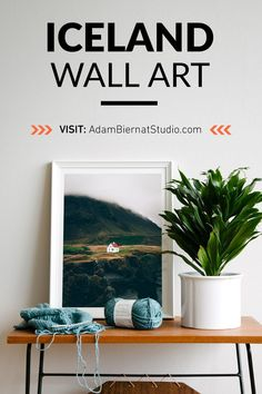 Looking for original art for home? Shop hypnotizing Nordic landscape wall art prints at Adam Biernat Studio. Hang these fine art landscape prints in your living room and enjoy their calm and relaxing aura every day. #wallart #iceland #nordicinterior #scandinavianstyle