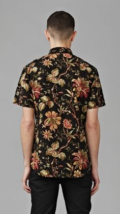 Blacked Out Floral Shirt