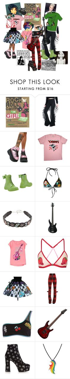 """""""Rock n roll camp 4 girls"""" by dreadreas22 ❤ liked on Polyvore featuring New Rock, RED Valentino, Dsquared2, Rebecca Minkoff, Yamaha, Topshop, Dilara Findikoglu, River Island, Yves Saint Laurent and My Little Pony"""