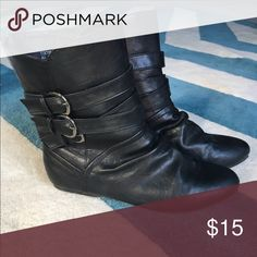 Bamboo brand boots Flat, slip on ankle boots. Worn lightly. Shoes Ankle Boots & Booties