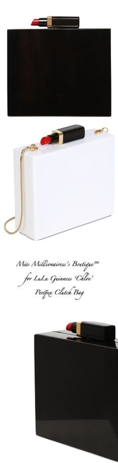 LuLu Guinness 'Chloe' Perspex Clutch Bags - Miss Millionairess's Boutique™