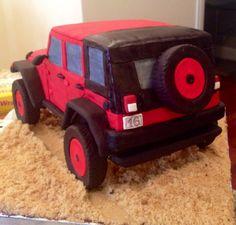 My latest cake...Jeep Wrangler chocolate w/chocolate buttercream! Mmmm