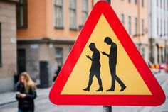 street art in Stockholm, Sweden Satire, Funny Signs, Funny Memes, Cell Phone Addiction, Technology Addiction, Graffiti, Street Art, Street Style, Photos Du