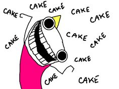 Ah, 'The God of Cake,' the entry that introduced me to Hyperbole and a Half, thanks to my brother.  Makes me laugh every time.
