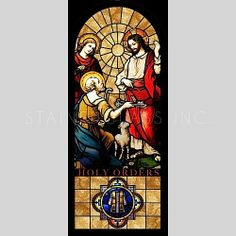 """""""The Baptism of Christ"""" Religious Stained Glass Window Stained Glass Church, Stained Glass Art, Stained Glass Windows, 7 Sacraments, Baptism Of Christ, Bible Illustrations, Tiffany Stained Glass, Church Windows, Glass Artwork"""