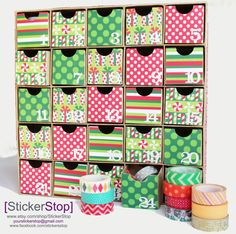 FESTIVE Deluxe Holiday Advent Calendar filled with by StickerStop