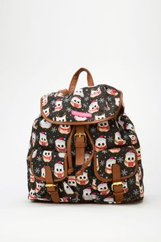 Christmas Owl Backpack
