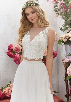 Sensual and glamorous wedding dresses for the sexy bride Beige Wedding Dress, Mori Lee Wedding Dress, Two Piece Wedding Dress, Luxury Wedding Dress, Sexy Wedding Dresses, Glamorous Wedding, Bridal Dresses, Wedding Gowns, Winter Bridesmaid Dresses