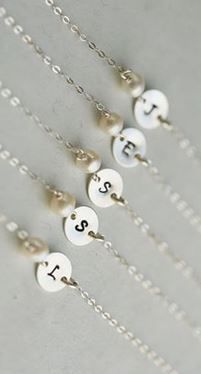 Initial bracelets for the bridesmaids! Cute thank you idea.