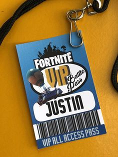 Fortnite birthdayfortnite VIP Lanyard tags printable tags 12th Birthday, Boy Birthday, Birthday Ideas, Sleepover Birthday Parties, Video Game Party, Minecraft Party, Printable Tags, Birthday Decorations, Party Favors
