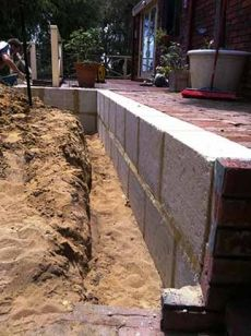 Limestone Wall In Karrinyup Paving Brick Wall Brick Paving Limestone Wall Brick Pavers
