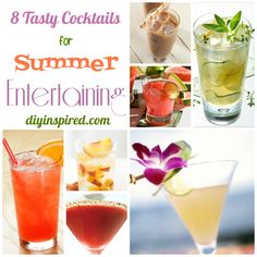 Eight Tasty Cocktail Recipes for Summer Entertaining