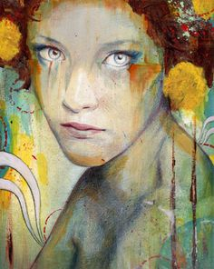 I love the colors in these paintings by Michael Shapcott… there's sort of a festival vibe to some of them – they're actually giving me some festival paint inspiration!