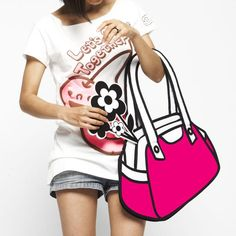 Cartoon purse by Jump From Paper. Actual bags that look like cartoons! New Casual Fashion, High Fashion, Womens Fashion, 2d Bags, Jump From Paper, Plus Zise, Cartoon Bag, Trends, Look Alike