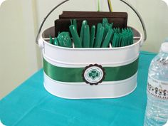 Girl Scout End of The Year Party Ideas. Great ideas for decorating & gifts for the girls.