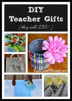 DIY Teacher Gifts -- fantastic ideas and free printable tags included. I love #1 and #6!