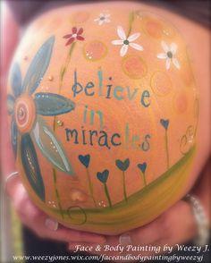 Pregnant belly art!  Miracle baby. Love this.