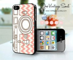 One Vintage Soul Retro Camera iPhone Case Handrawn by 1VintageSoul