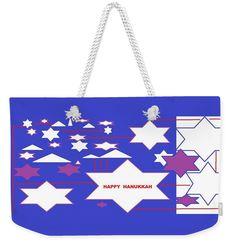 Weekender Tote Bag of 'Happy Hanukkah' by Sumi e Master Linda Velasquez.