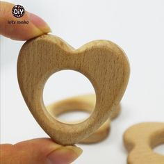 10 шт./лот Органических Детские Прорезыватель Деревянные Teether Природных…