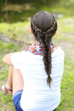 Laced Fishtail Braid and more Hairstyles from CuteGirlsHairstyles.com