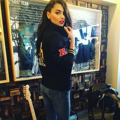Adriana Lima wears Levi's denim at the 2016 Super Bowl. Photo: Instagram
