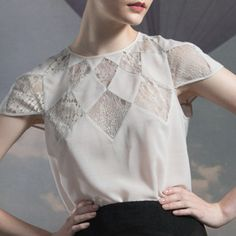 Diamond Blouse in Pale Rose | Tocca