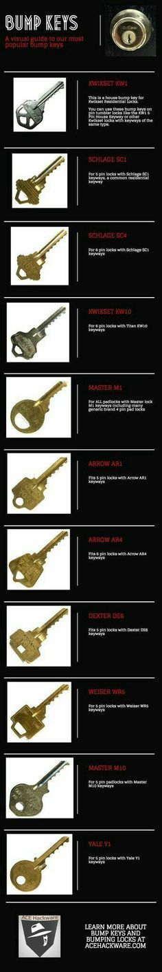 Please, replace your household locks with bump proof locks. They sell them at any home improvement store and it will keep anybody from using a bump key and walking into your residence