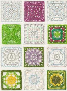 Transcendent Crochet a Solid Granny Square Ideas. Inconceivable Crochet a Solid Granny Square Ideas. Crochet Bedspread Pattern, Crochet Mandala Pattern, Crochet Motifs, Granny Square Crochet Pattern, Crochet Flower Patterns, Crochet Diagram, Crochet Stitches Patterns, Crochet Squares, Crochet Chart