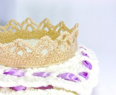 Crochet PATTERN Crown for Girl All Ages