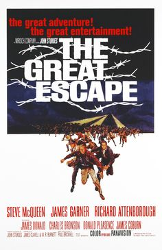 The Great Escape is a 1963 American film based on an escape by British and Commonwealth prisoners of war from a German POW camp during World War II, starring Steve McQueen, James Garner and Richard Attenborough.