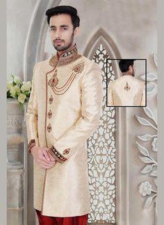 Indian Wedding Readymade Bollywood Indostyle Mens Ethnic Dress Sherwani Designer #KriyaCreation #IndoWesternSherwani