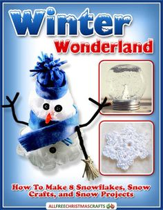 Winter Wonderland: How to Make 8 Snowflakes, Snow Crafts, and Snow Projects free eBook | Find snowman crafts and other snow-themed crafts you'll love.