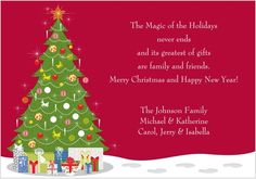 Christmas Cards Wording Example