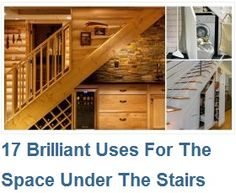 17 Brilliant Uses For The Space Under The Stairs