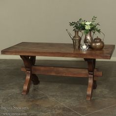 Antique Furniture | Antique Dining Furniture | Antique Dining Tables | Antique Country French Trestle Table | www.inessa.com