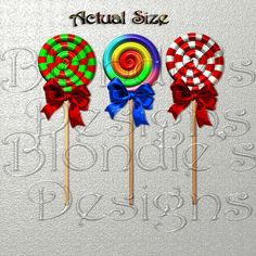 Digital Lollipops I made in my 3D program. I made them in colors suitable for all holidays. They are created at 300 DPI in PNG format.