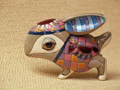 Porcelain bunny by Anya Stasenko & Slava Leontyev