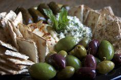 Hummus Feta Dip Platter
