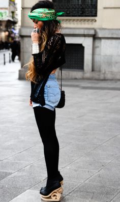 Denim with Tights